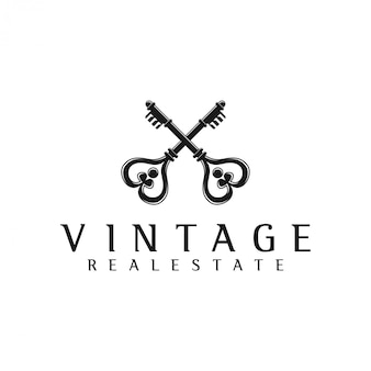 Key logo crosses for real estate