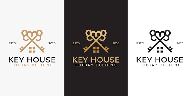 Key real estate home building logo design