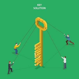 Key solution isometric flat