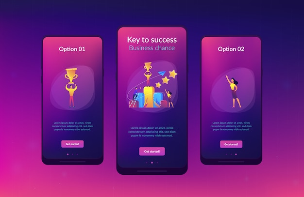 Key to success app interface template