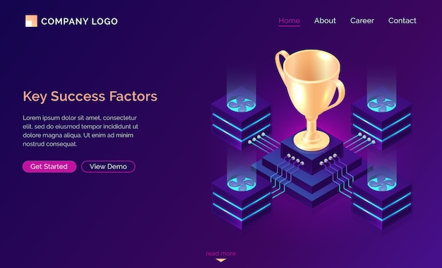 Key success factors, isometric business concept