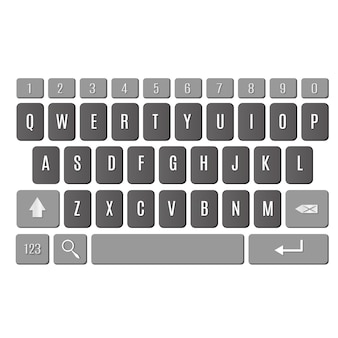 Keyboard of smartphone