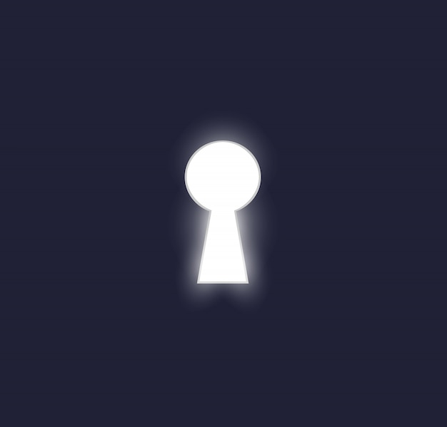 Keyhole in the door vector