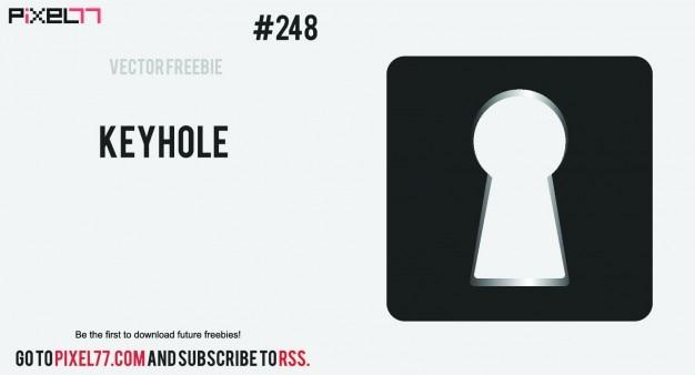 Keyhole shape