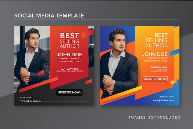 Keynote speaker instagram post template