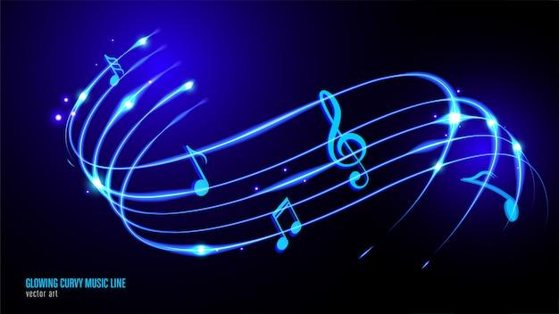 Светящаяся музыка keynote