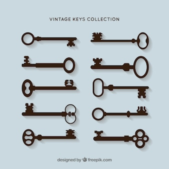 Keys silhouettes vector pack