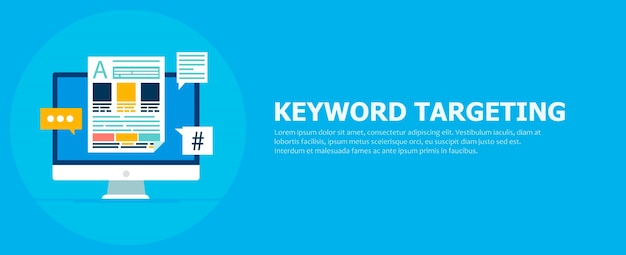 Keyword targeting banner