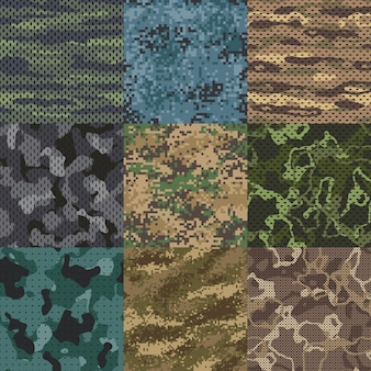 Khaki texture. camouflage fabric seamless patterns, military clothes textures and army print  pattern