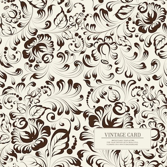 Khohloma style floral seamless pattern.