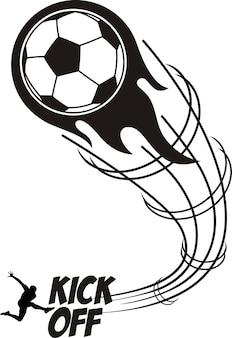 Kick off soccer sport