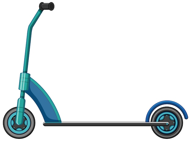 A kick scooter cartoon style isolated on white