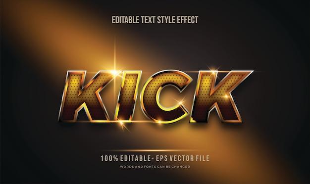 Эффект редактируемого стиля текста с блестящим золотом и черными точками