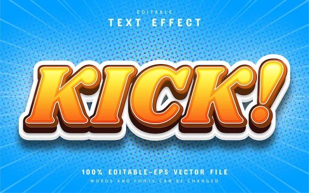 Kick text effect comic style