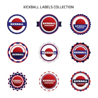 Kickball labels collection