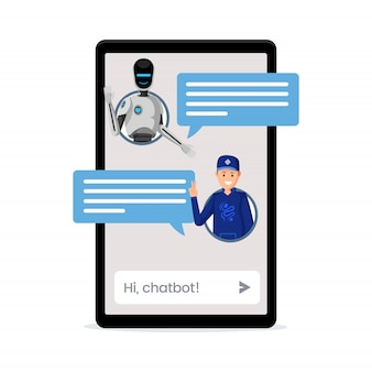 Kid chatting with chatbot