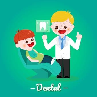 Kid and dentist