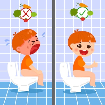Kid and toilet