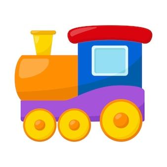 Детский игрушечный поезд, векторные иллюстрации