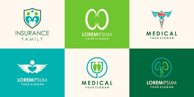 Дизайн логотипа для ухода за почками, вдохновение