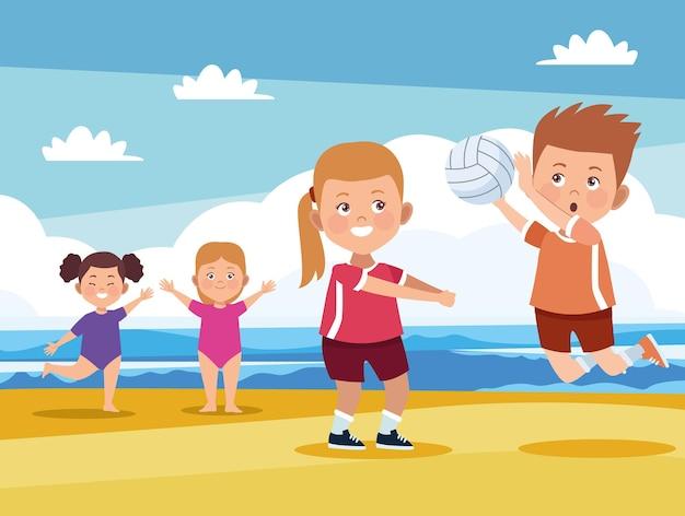 Kids activities on beach