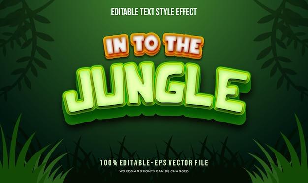 Kids adventure theme text style.  vector editable text style effect.