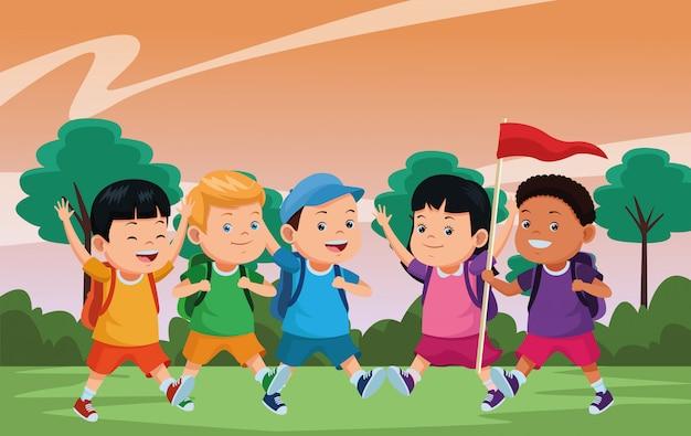 Детские и летние лагеря мультфильмы