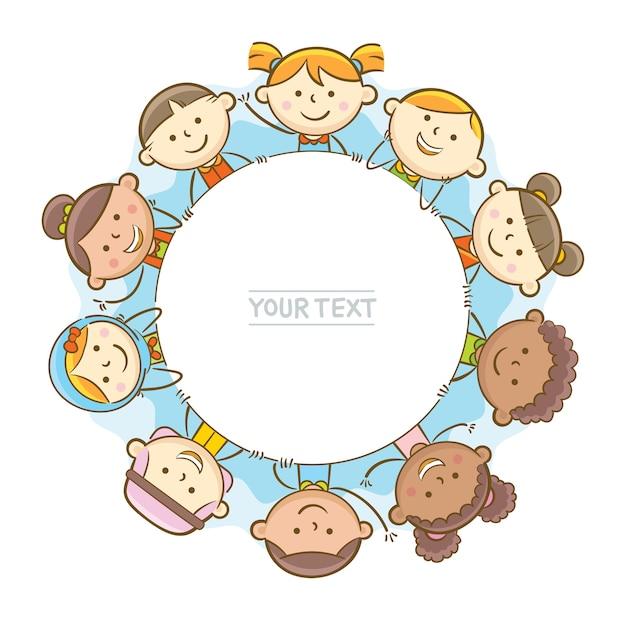 Дети вокруг круглой доски