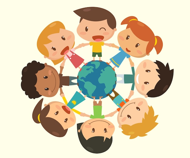 Kids around the world.