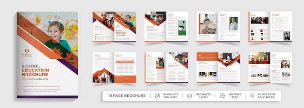Дети снова в школу поступление в школу двойной шаблон брошюры дизайн профиля компании