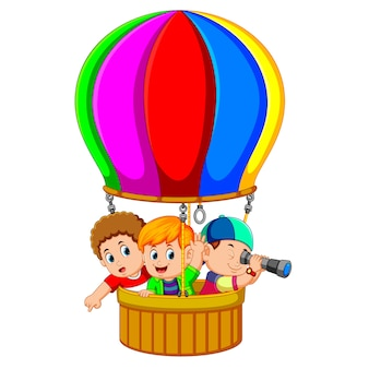 Kids in a balloon