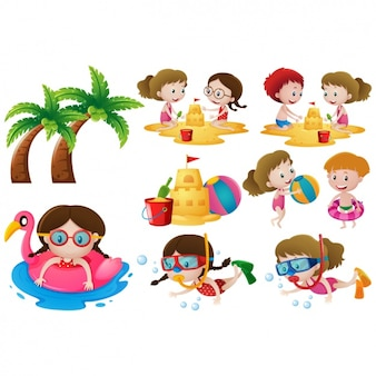Kids on the beach designs collection