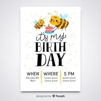 Kids birthday invitation template