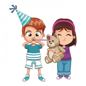 Kids on birthday party