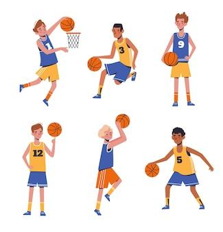 농구 하는 아이 소년