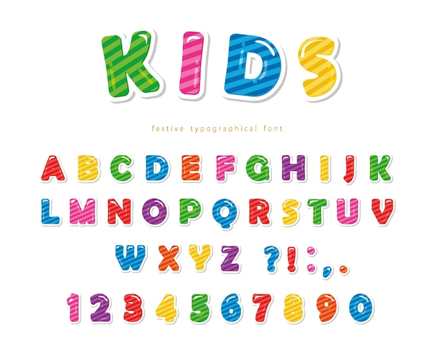 Kids cartoon font