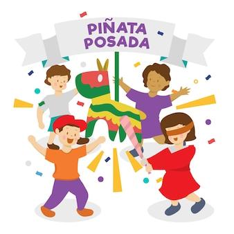 Bambini che celebrano la posada