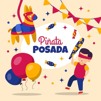 Kids celebrating posada