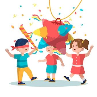 Kids celebrating posadas