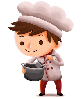 Kids chef in cute character style