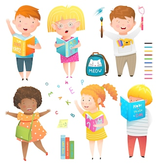 Kids collection isolated clipart illustration