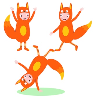 Kids costume fox