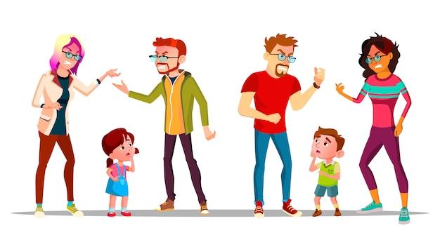 両親が離婚しているため泣いている子供たち