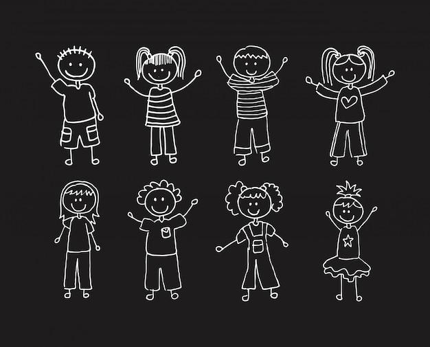 Kids design over black background vector illustration