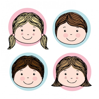Kids design over white background vector illustration