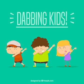 Kids doing dabbing movement
