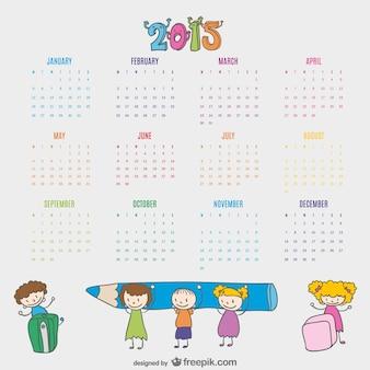 Kids drawn calendar 2015