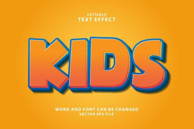 Детский редактируемый текстовый эффект 3d