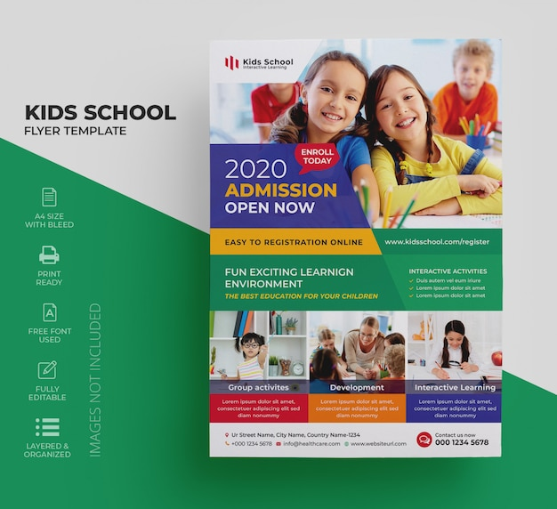 Kids education flyer
