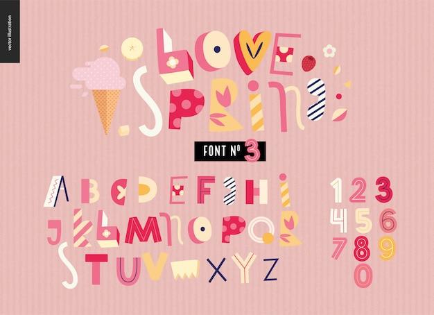 Kids flat alphabet set